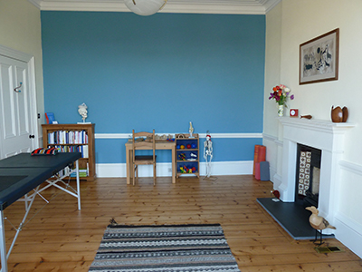The main work room at the Edinburgh Alexander Training School, situated in a lovely Victorian Townhouse in Portobello