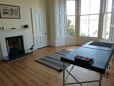 The main work room at the Edinburgh Alexander Training School, looking out onto Portobello.