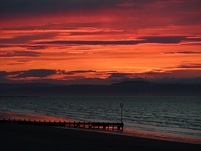 A Sunset over Portobello beach