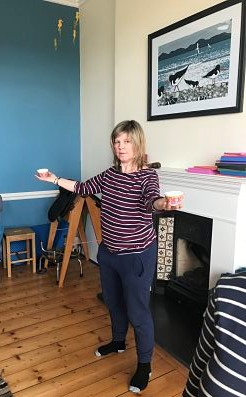 Cath doing some movement work