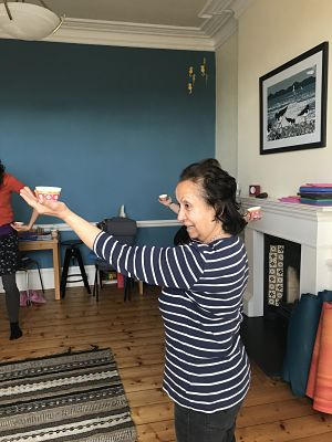 Movement work: Samia with dancing teacups!